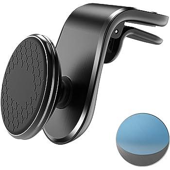 NIAGUOJI Supporto Magnetico da Auto, girevole a 360° Supporto Auto Smartphone, Universale per iPhone XS/XS Max, Samsung Galaxy S10+, Calamita per Cellulare Auto