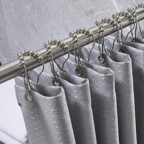 (70% OFF) Fabric Shower Curtain W/ Hooks $8.69 Deal