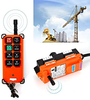 12V DC Transmitter&Receiver Hoist Crane Radio Wireless Industrial Remote Control (USA Stock)