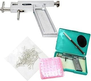 Lefv™ Ear Nose Navel Body Piercing Gun Tool Kit with Free 98pcs Steel Studs Professional Set Supply