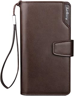 Baellerry Men Business Casual Long Paragraph Hasp Wallet Phone Package Multifunction Hand Bag Qb57B Brown