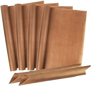 IWILCS Lot de 6 feuilles de cuisson réutilisables anti-adhésives, film de cuisson durable pour four, barbecue, tapis de cu...