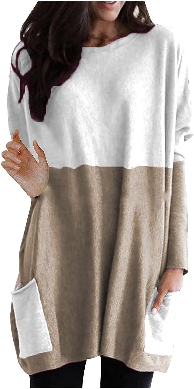 raillery Women's Fashion Long Plain T-Shirt Long Sleeve Top Loos