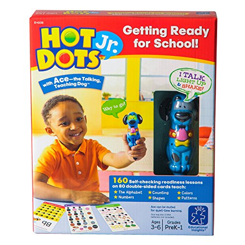 Educational Insights Hot Dots Jr. Getting Ready For School Set with Interactive Pen, Reading & Math Workbooks, 160 Lessons for Homeschool & Classroom, Ages 3+