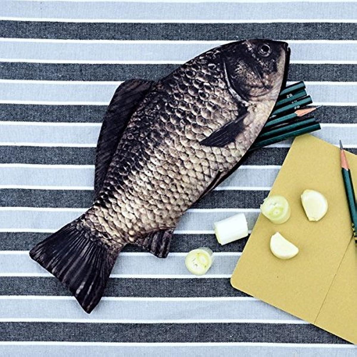 Fangfang Creative Pen Bag Carp Fish Shape Penceil Case Zip Wallet