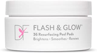 DERMAFLASH – FLASH & GLOW Resurfacing Peel Pads – Glycolic & Salicylic Acid Facial Exfoliant