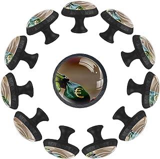 Boutons D'armoire 12 Pcs Poignés Poignée De Champignons Porte Poignées avec Vis pour Cabinet Tiroir Cuisine,Petite grenouille