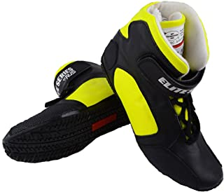 Racerdirect RJS Racing SFI 3.3/5 Elite Leather Driving Shoes Yellow Size Mens 9 Womens 11