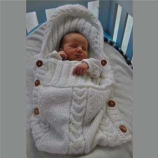 Baby Swaddle Wrap Saco de dormir de lana de ganchillo recién nacido de punto cálido Mantas de pañales para bebés Sacos de dormir