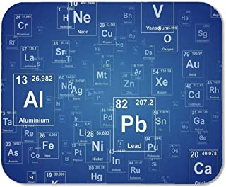 Science Personalized Mouse Pad,Chemistry Tv Show Inspired Image with Periodic Element Table Image Print Art for Work Game