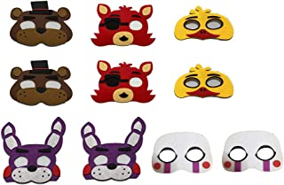 10 Pack Five Nights at Freddy's Masks Kids Cosplay Costume Party Favors Supplies Fazbear Bonnie Foxy Puppet