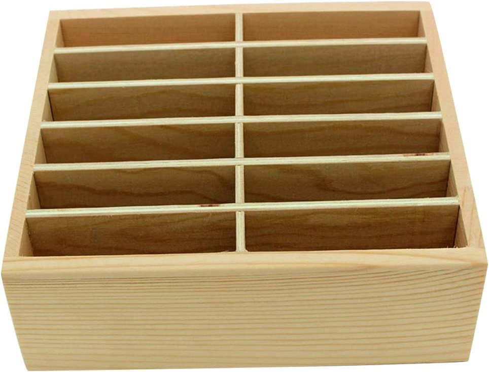 Rack30 GLOTRENDS 30-Grid Wooden Cell Phone Holder Desktop Organizer Storage Rack for Classroom Office