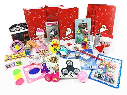 Gefüllter Adventskalender inkl. 24 Geschenken für Mädchen - Fertiger Adventskalender
