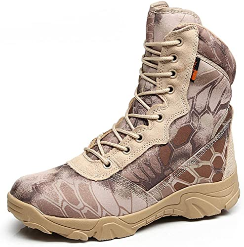 botas TáCticas Militares para Hombre otoño Invierno Cuero Impermeable botas del EjéRcito Zapaños De Trabaño Desert Safty botas De Tobillo De Combate