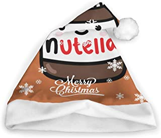 ghkfgkfgk Tumblr Nutella Christmas Hat, Santa Hat, Xmas Holiday Hat for Adults