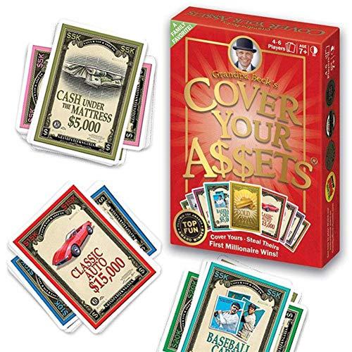 Adultos Juegos de Cartas Cover Your Assets Juego de Cartas/Juego de MesaDivertido Juego Familiar para coleccionar, disfrutado por niños, Adolescentes y Adultos, Beyond The Game