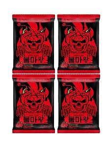 the spiciest instant noodles, mukbang, bullmawang, the devil of fire (117g x 4pack)