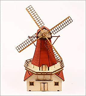 Desktop Wooden Model Kit Dutch windmill by Young Modeler