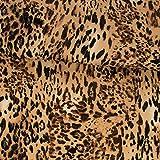 Viskose Jersey Animal Print Leoparden Muster beige braun