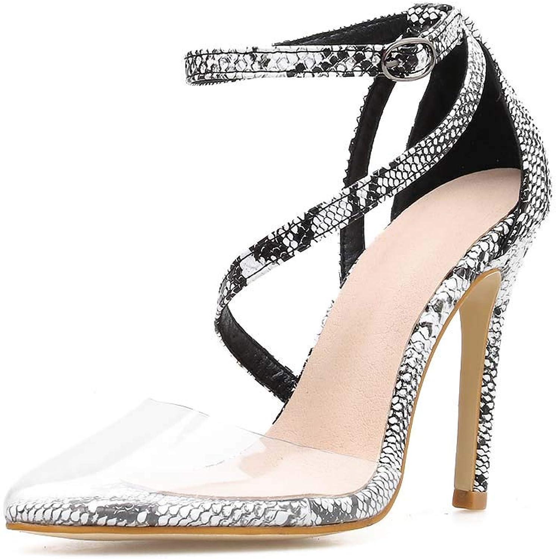 CFPPX Belt Buckle Women's high Heel Court shoes Boat shoes Snake Female Sandals