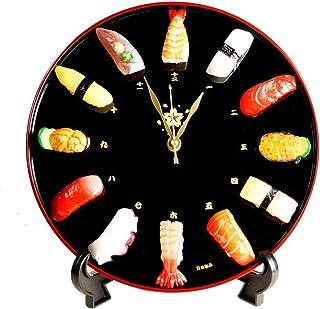 寿司時計 インテリア 食品サンプル 掛け時計 置き時計用スタンド付き