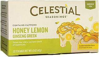 Celestial Seasonings Honey Lemon Ginseng Green Tea Bags, 20 ct (CELESTIAL618199)