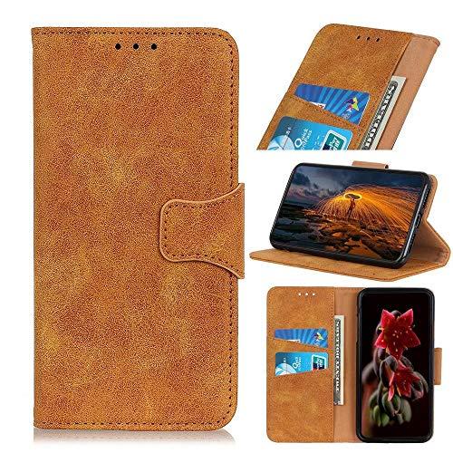 Schutzhülle für Huawei Y9a aus hochwertigem Leder, stoßfest, Brieftaschenformat, Magnetverschluss, Klapphülle, Standfunktion, vollständiger Schutz, kompatibel mit Huawei Y9a Handyhülle, Gelb