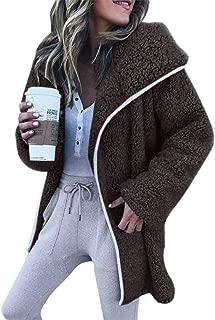 Forthery-Women Casual Fleece Coat, Winter Warm Hoodie Zipper Long Sleeve Sweater Cotton Pocket Outwear Plus Size