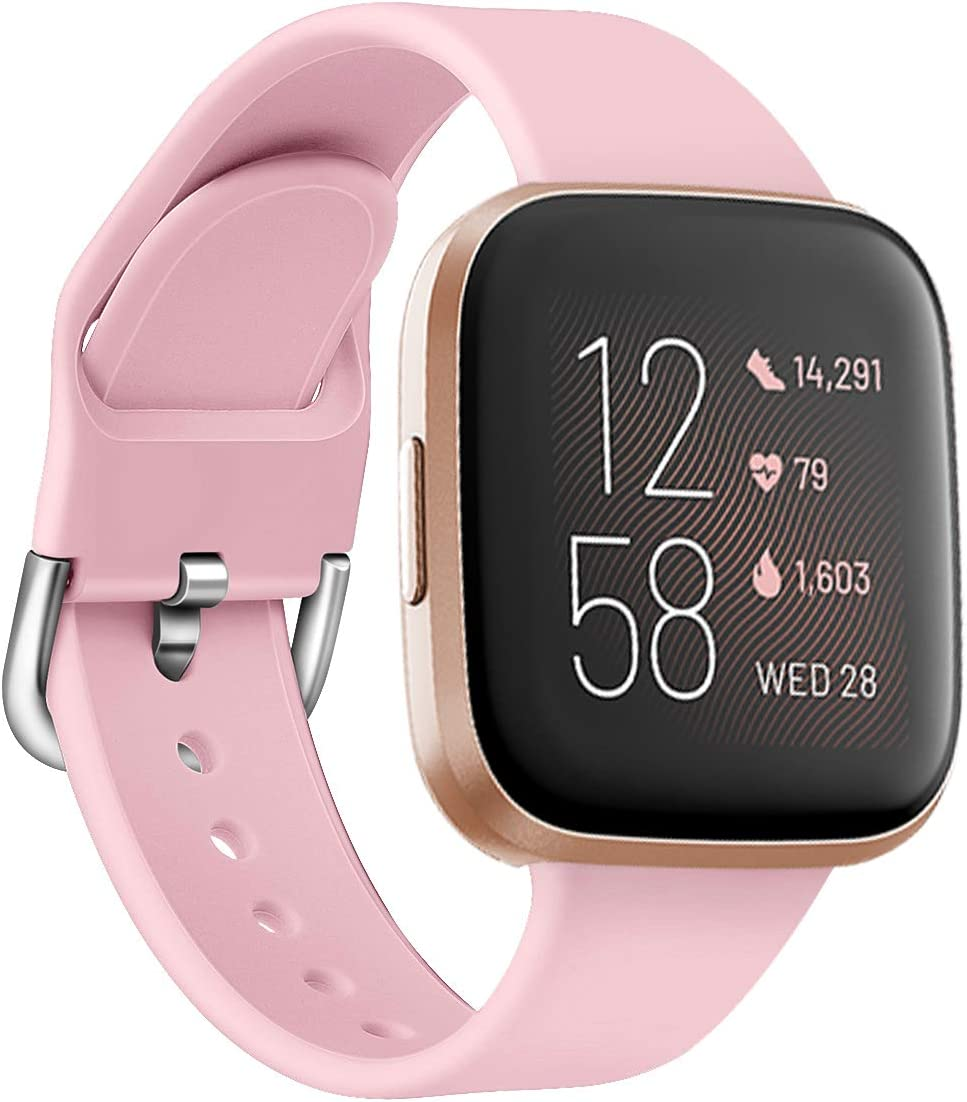 ZSZCXD Compatible for Wristband for Fitbit Versa 2//Versa//Versa Lite//Versa SE Small and Large Soft Silicone Replacement Band WatchBand Wristbands for for Women Men