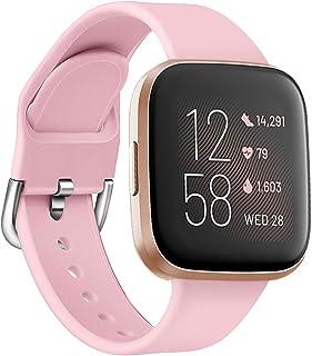 Oihxse Silicona Ajustable Correa Compatible con Fitbit Versa/Versa Special Edition/Fitbit Versa 2/Versa Lite Watch Deporti...