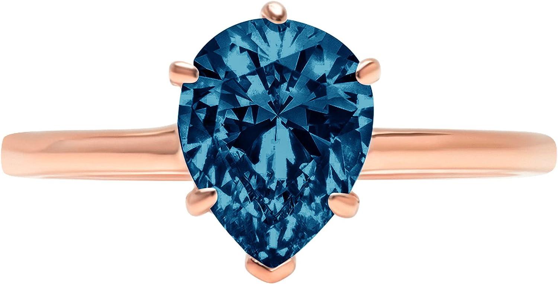 1.1 ct Brilliant Pear Cut Blu London Flawless Max 70% OFF List price Stunning Solitaire