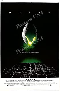"""Posters USA - Alien Movie Poster GLOSSY FINISH - MOV007 (24"""" x 36"""" (61cm x 91.5cm))"""