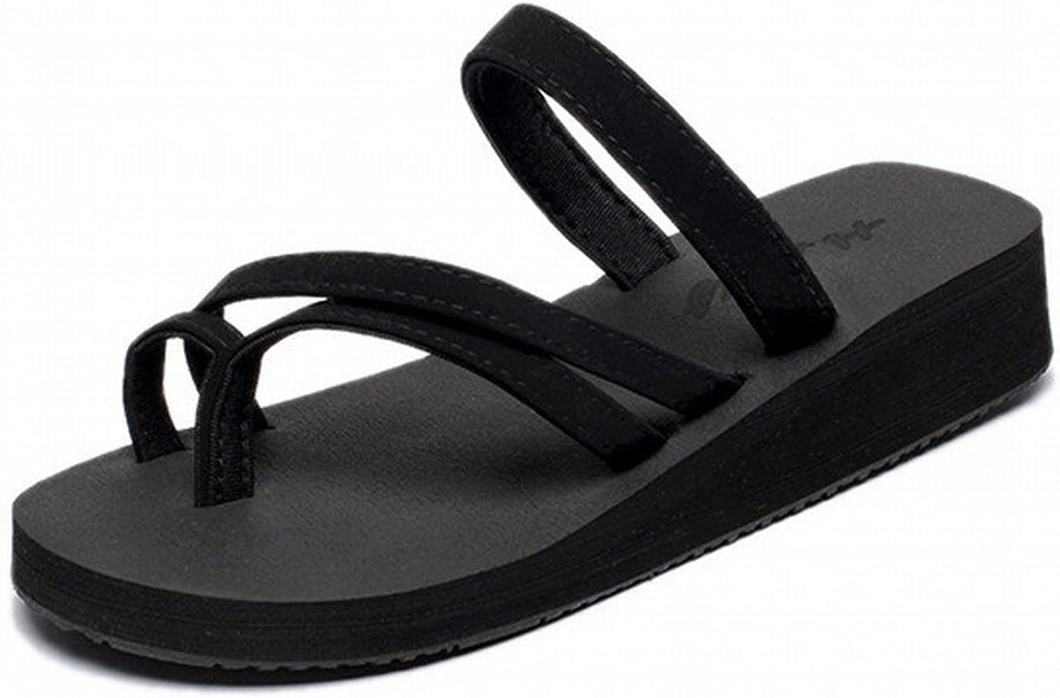SED Slippers - Flip-Flops Women's Slope with Thick Sandals and Slippers Outside to Wear Non-Slip Beach Slippers