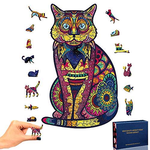 TOLOYE Puzzle de Madera, Garfield Rompecabezas de Madera 3D Puzzle Madera con Forma de Animal única Puzzle Madera Animales para Adultos y Niños Colección de Juegos Familiares Regalo (Garfield)
