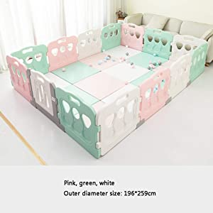 Baby Playpen  Baby Playpen Castle Infant Colourful Panels With Doors Panel And Anti-deformation Buckle  Color