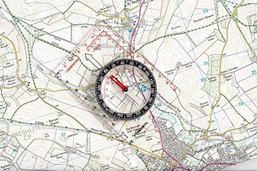 TREKRITEコンパス方位磁石夜に光るスタータースモールマップ登山(正規品)