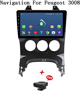 プジョー3008 2009-2012カーステレオGPSナビゲーションのためのAndroid 8.1カーラジオ9インチタッチディスプレイカーメディアプレーヤーサポートスクリーンミラーWiFi Bluetoothステアリングホイールコントロール