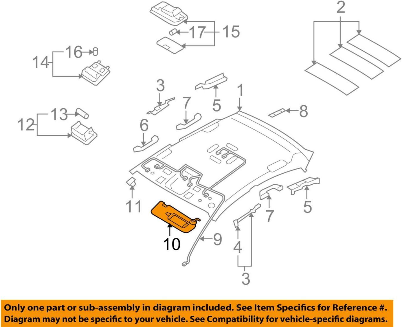 Genuine Hyundai 85201-2L440-TX Sun Bargain sale Visor Left Assembly supreme