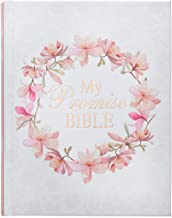 KJV Holy Bible, My Promise Bible, White and Pink Hardcover Journaling Bible w/Ribbon Marker, 500 Scripture Illustrations t...