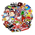 Sticker Pack 100-Pcs Sticker Decals Vinyls for Laptop,Kids,Cars,Motorcycle,Bicycle,Skateboard Luggage,Bumper Stickers Hippie Decals bomb Waterproof (100Pcs)…