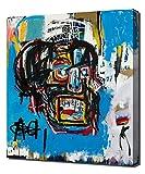 Untitled Head - Jean Michel Basquiat - Reproducción Lienzo - Arte Enmarcado Impresión De Lienzo