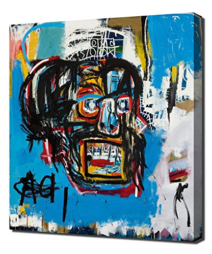 Untitled Head - Jean Michel Basquiat - Reproducción De Alta Calidad Lienzo - Arte Enmarcado Impresión De Lienzo
