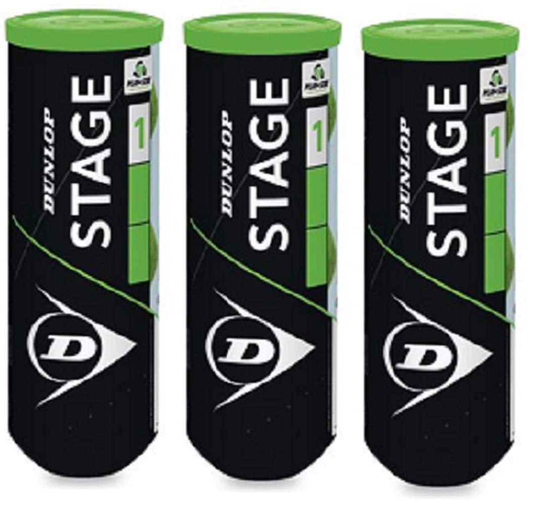 Dunlop Stage 1 Pelota Tenis Pack 9 Pelotas (3x3): Amazon.es ...