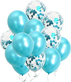 Teal Turquoise Balloons Turquoise Confetti Balloons for Birthday Engagement Graduation Anniversary Party Decorations Supplies (Teal)