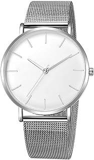 OWMEOT Big Watch Luxury Quartz Sport Stainless Steel Wrist Watch Men