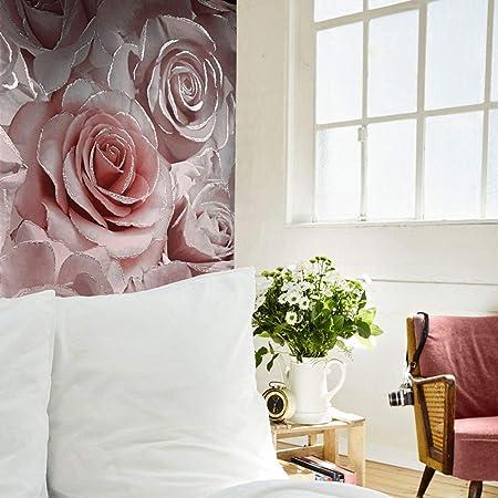 Muriva Madison Glitter Vinyl Wallpaper Raspberry 139521 Full Roll