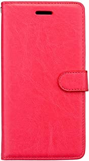 For Huawei Nova 3 Case PU Leather Protection 3 Card Slots Wallet Flip Case Cover-Red