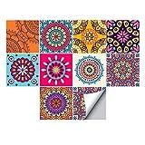 Alwayspon - Adhesivo decorativo para pared, diseño de azulejos para decoración del hogar, 10 unidades, vinilo, Resumen 1, 20x20cm