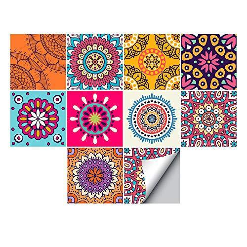 Adhesivo adhesivo para decoración del hogar, despegue y pegue las salpicaduras autoadhesivas, para sala de estar, cocina, baño, 10 piezas (abstracto, 1, 20 x 20 cm)