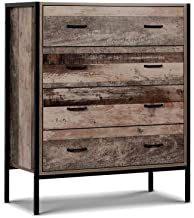 Artiss Industrial Tallboy Chest of Drawers